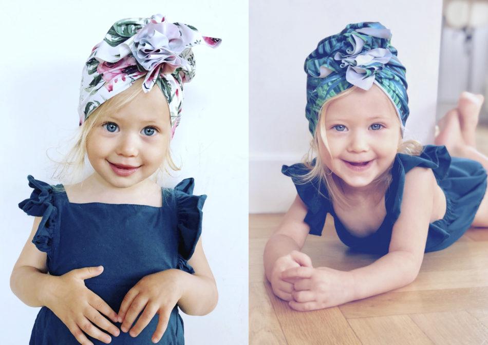 Turban dla dzieci Flower Power