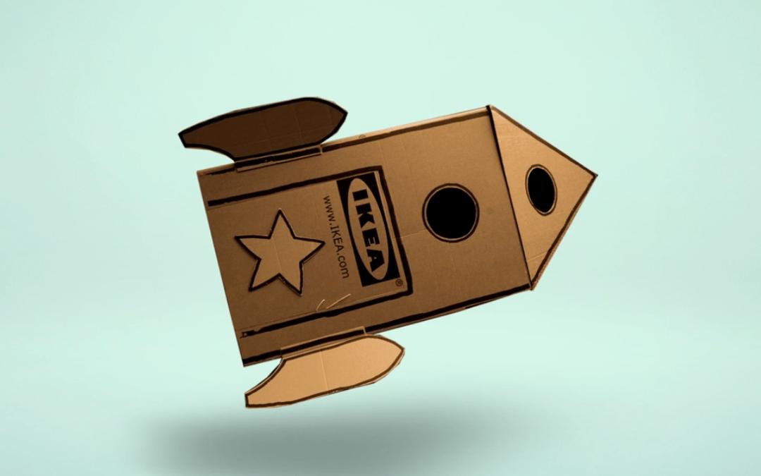 Co zrobić z kartonami po meblach? Zabawki!