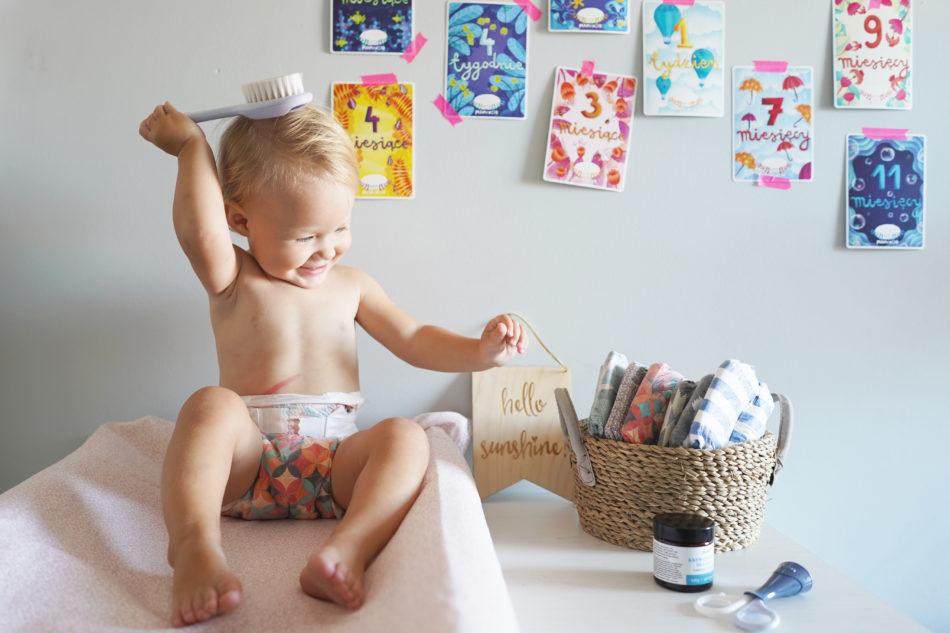 Modne i kolorowe pieluszki dla dzieci