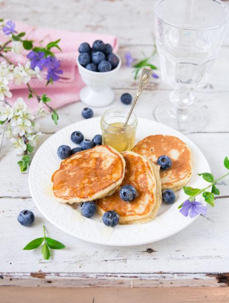 placuszki z owocami na śniadanie