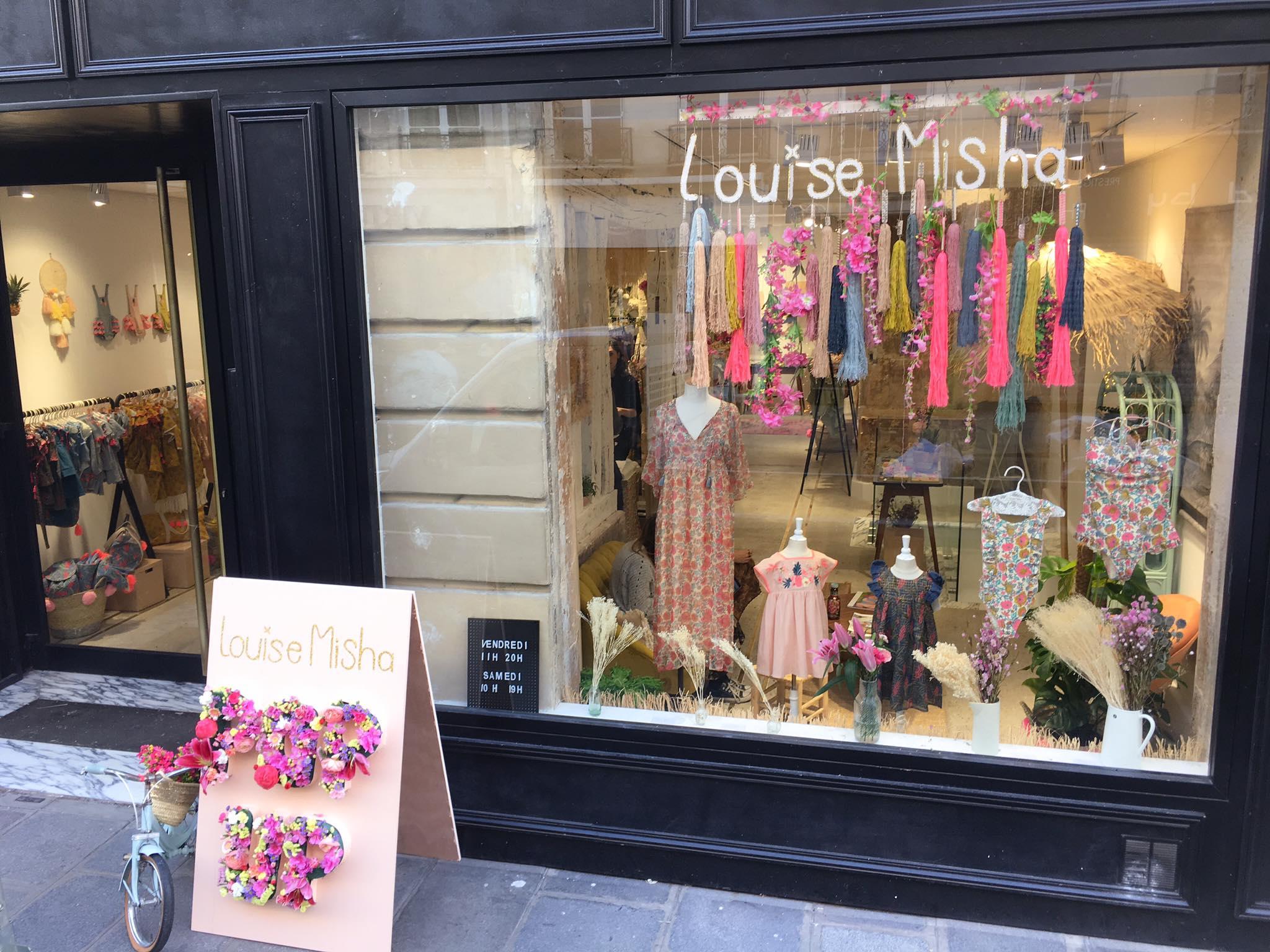 pop up store Louise Misha Paris