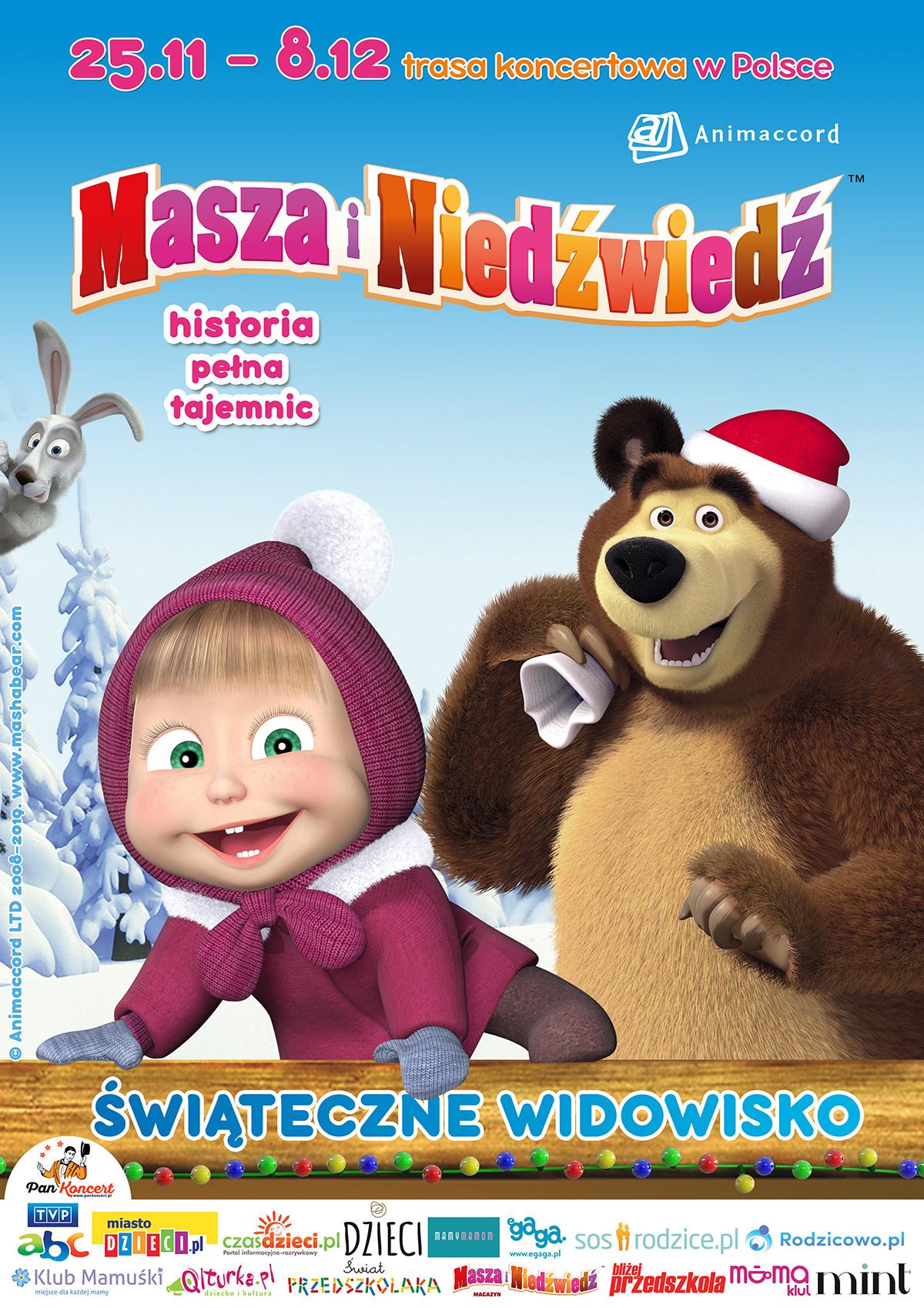 bajka o Maszy i Niedźwiedziu widowisko świetny prezent na święta
