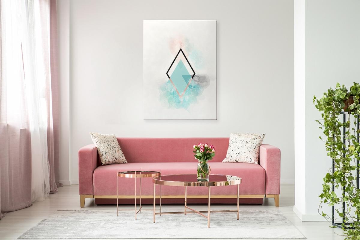 obraz do salonu minimalizm na płótnie