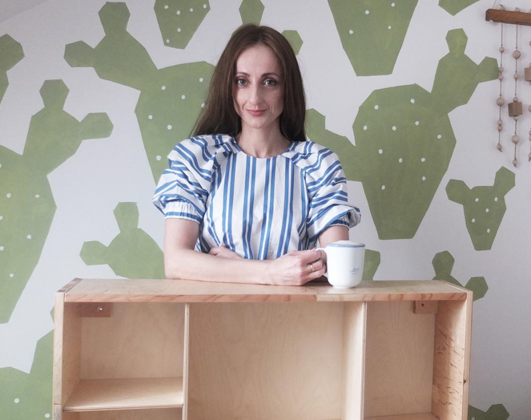 pomysł na pokój dziecka drewniana półka lapgap
