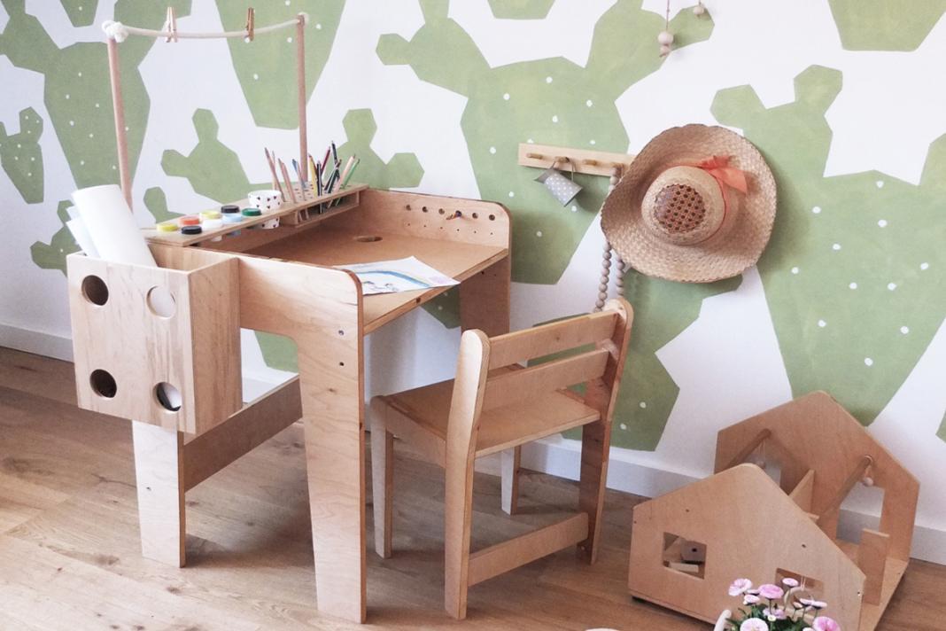 pomysł na pokój drewniane meble