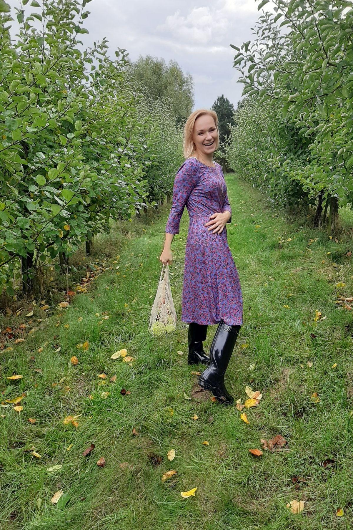 jesienna stylizacja sukienka