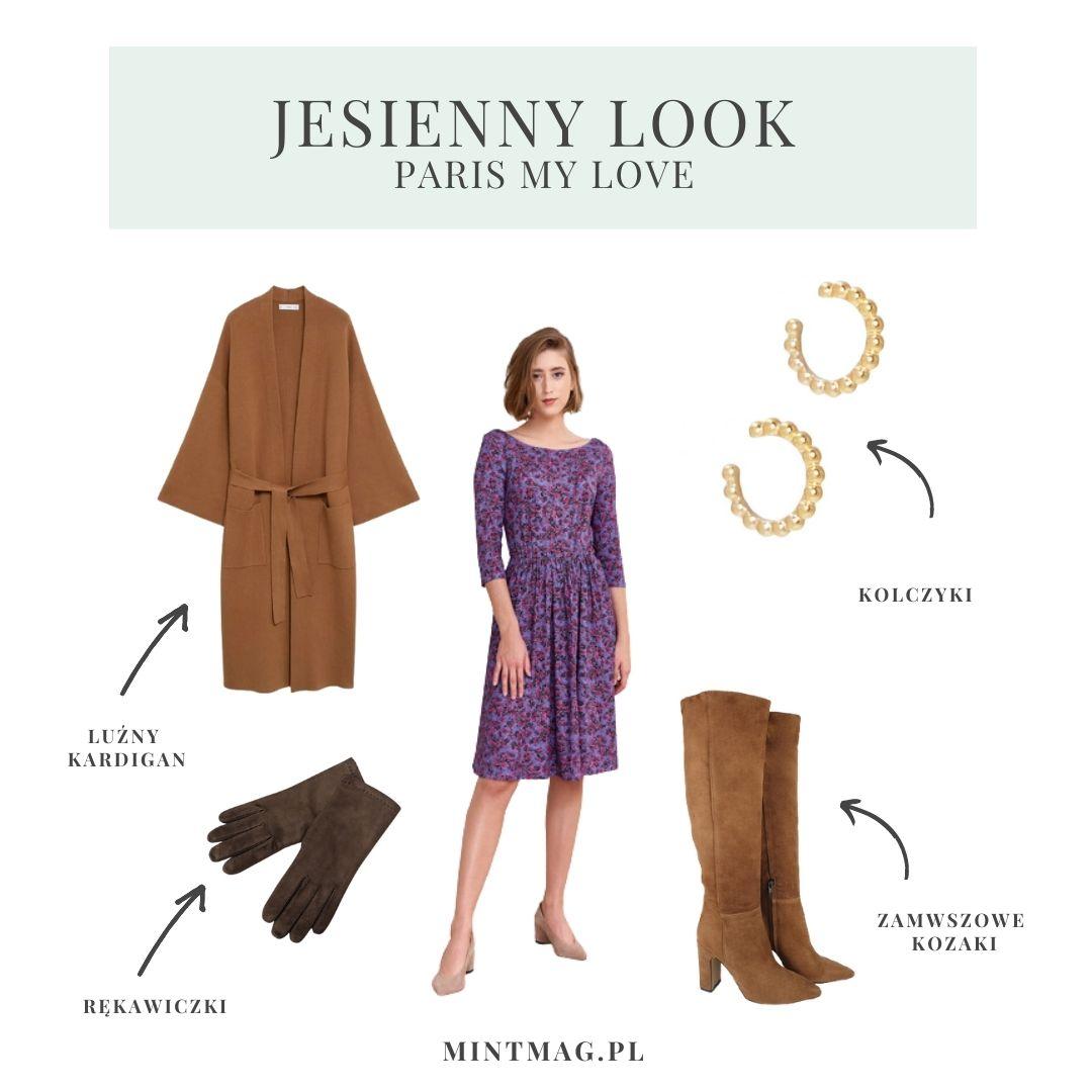 jesienne stylizacje sukienka