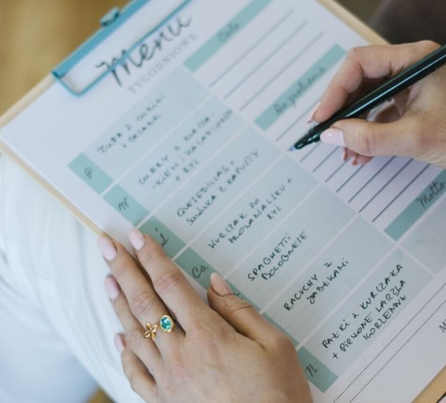 Tygodniowy planner menu do pobrania